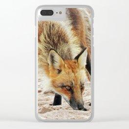 Fox Portrait Clear iPhone Case