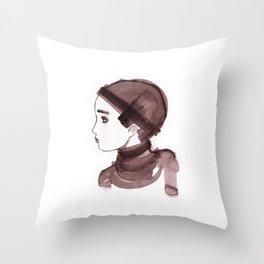 Girl ink 01 Throw Pillow