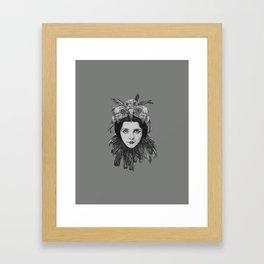 Lady Bird Skull Framed Art Print
