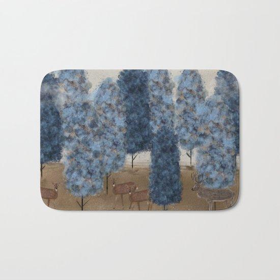 blueberry wood Bath Mat