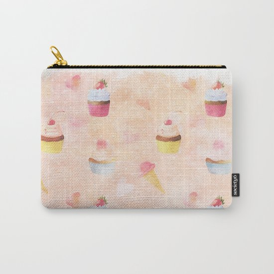 Happy summer- lovely vintage cake summer pattern Carry-All Pouch