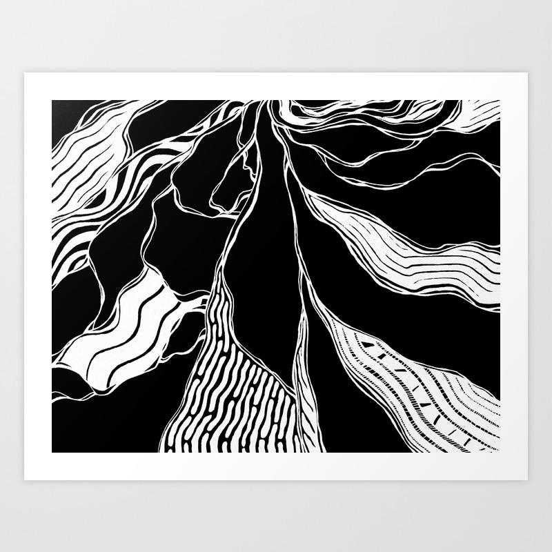 Winding Roots Art Print by Adamatilda PRN8998229