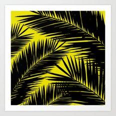 Black Palm Art Print