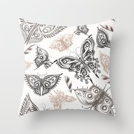 Butterfly design classic elegant graphic design Throw Pillow