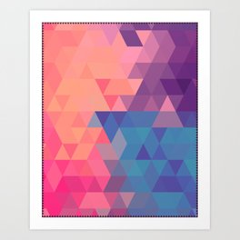 Colorul triangle Art Print