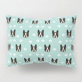 Boston Terrier head cute pet pattern dog breed gifts boston terrier lovers Pillow Sham