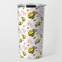 Cuddly Bees and Hives Travel Mug