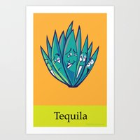 tequila Art Prints featuring Tequila by Heather Martinez