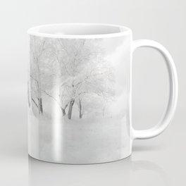 White Horse Galloping on Snowy Field Coffee Mug