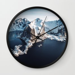 lofoten skyline Wall Clock