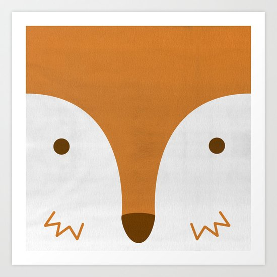 Mr Fleecy Fox Art Print