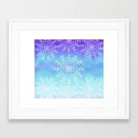 tye dye Framed Art Prints featuring Tye dye and Lace by Ann Bridges