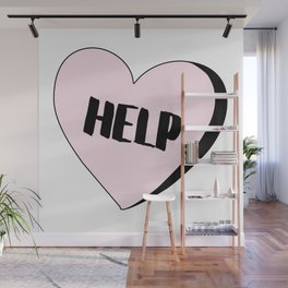 Help Candy Heart Wall Mural