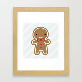 Cookie Cute Gingerbread Man Framed Art Print