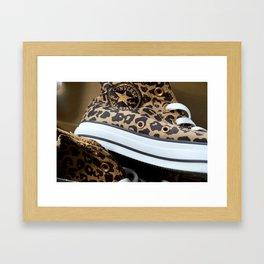 Converse leopard All Stars Framed Art Print