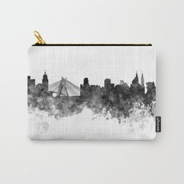 Sao Paulo skyline in black watercolor on white background Carry-All Pouch
