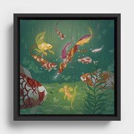 Ukiyo-e tale: The magic pen Framed Canvas