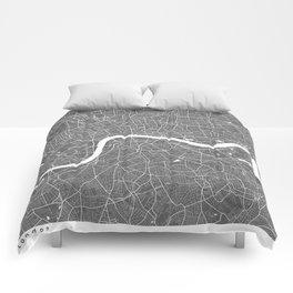 London UK Modern Map Art Print Comforters