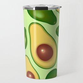 Avocado Juicy Pattern Travel Mug
