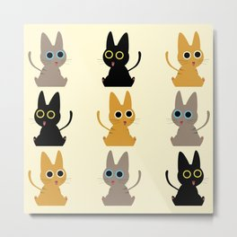 Army of Kittens Metal Print