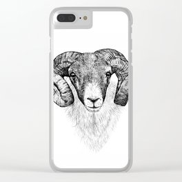 Scottish Blackface Clear iPhone Case