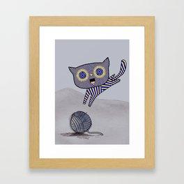 Teacake Kitten Framed Art Print