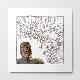 Ability to inflict papercuts with mind Metal Print