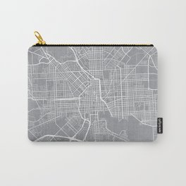 Baltimore Map, Maryland USA - Pewter Carry-All Pouch