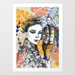 Fashion Illustration 5 High Fashion Girl Art Print