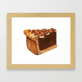 Pecan Pie Slice Framed Art Print