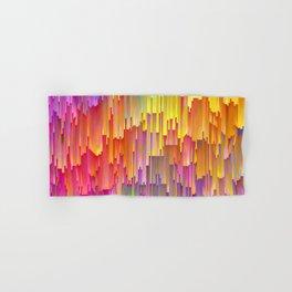 Vibrant Rainbow Cascade Design Hand & Bath Towel