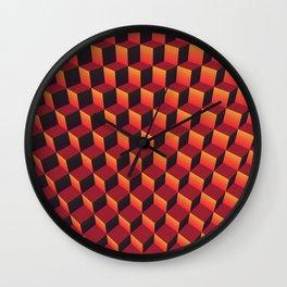 """Minecraft """"Lava"""" Wall Clock"""