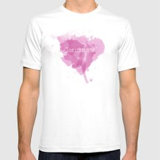 Love can be messy White Mens Fitted Tee MEDIUM