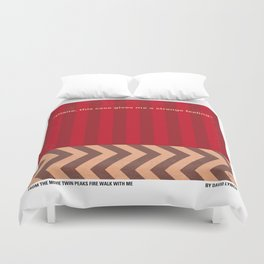 No169 My Twin Peaks minimal movie poster Duvet Cover