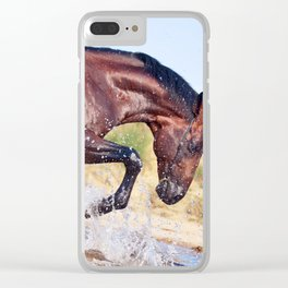 horse collection. Trakehner. swimm Clear iPhone Case