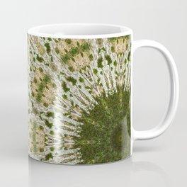 Tree Trunk Green and White Coffee Mug