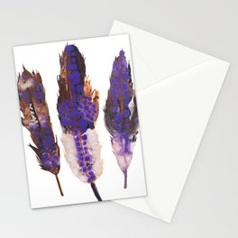 Purple Feathers Stationery Cards