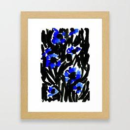 SJØ & BLOMST Framed Art Print