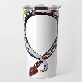 Snake Piece #37 - Rainbow Calico Necklace Travel Mug