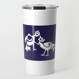 Thailand Flag, Roosters Sparring Travel Mug