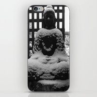 buddah iPhone & iPod Skins featuring Snowy Buddah by Nearlycanadian