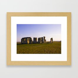 Evening at Stonehenge Framed Art Print