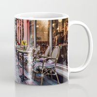 cafe Mugs featuring Arcade Cafe by Steve Purnell