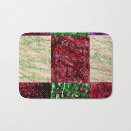 Patchwork color gradient and texture 2 Bath Mat