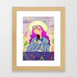 Magic Ice Cream Framed Art Print