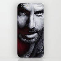 rick grimes iPhone & iPod Skins featuring The Walking Dead - Rick Grimes by Trev Murphy