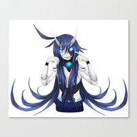 android Canvas Prints featuring Android by lazylogic