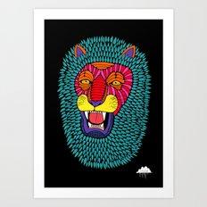 Magic Lion Art Print