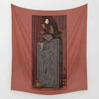 hallion Wall Tapestries featuring ....to find a way out! by Karen Hallion Illustrations