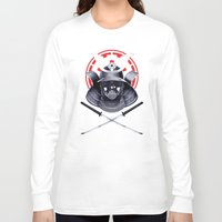 darth Long Sleeve T-shirts featuring Darth Samurai by Steven Toang